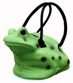 FREE US SHIP Silicone FROG PURSE Handbag Tote Bag Green Black Pocketbook Rubber #NYCL #Satchel