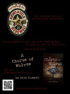 Happy Halloween! Hunker down with a glass of #warewolf ale and a copy of @Alex Kimmell's A CHORUS OF WOLVES. http://www.amazon.com/A-Chorus-of-Wolves-ebook/dp/B00FQSXW88