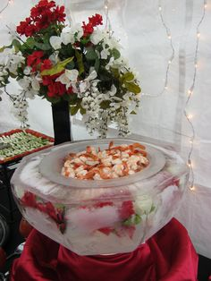 Ice bowl full of shrimp!