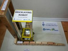 The robot designed by a student at the University of Toronto can lay bricks faster and more accurately.