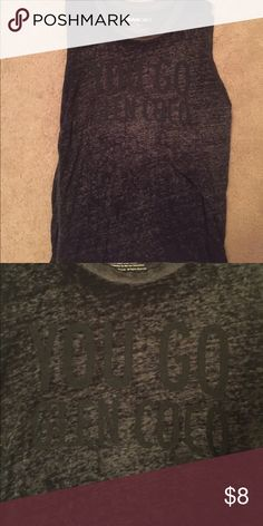 """Mean girls tank top Tank top that reads """"you go glen coco"""". Famous line from mean girls. I wore this with shorts and sandals or to go workout. Great condition. No holes, stains, or rips. Tops Tank Tops"""