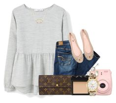 """""""""""u took a Polaroid of us""""//emma"""" by preppy-southern-gals ❤ liked on Polyvore featuring MANGO, American Eagle Outfitters, Kendra Scott, Kate Spade, Louis Vuitton, NARS Cosmetics, A B Davis, women's clothing, women and female"""