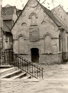 Wiesloch, Germany, A ruined synagogue on Kristallnacht.
