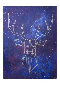5x7 Geometric Deer Blank Greeting Card These cards have a picture of an acrylic…