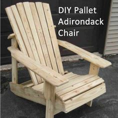 Learn how to build this wooden Adirondack chair with wooden pallets. Click the image for the free step-by-step tutorial.