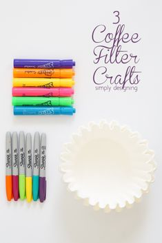 3 Coffee Filter Crafts - these are so fun and simple and perfect to keep boredom at bay (ad) #gearupforgreat #gearlove