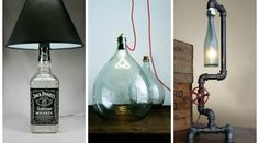 making lamps from bottles - Google Search