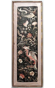 Asian Chinese textile/rugs wall hanging embroidery