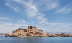 Saladin's Castle on Pharoah Isand, Taba, Egypt.