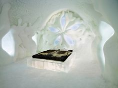For that year, when the temperature drops below zero in Sweden, there is a construction started of hotel made of ice and snow. Inside the ice hotel you will find an ice bar, a church made of ice and exclusive apartments by interior designers who are developing around the world.