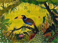 Biographie du peintre Alain THOMAS  les toucans