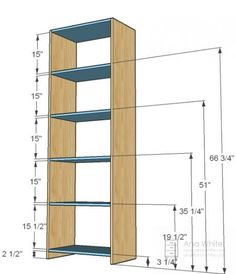 Simple Closet Organizer-- instructions and specs.