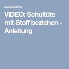 VIDEO: Schultüte mit Stoff beziehen - Anleitung