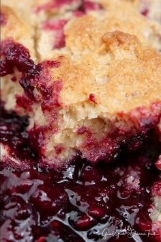 Triple Berry Cobbler - This mixed berry cobbler tastes like an old fashioned cobbler recipe Grandma made with raspberries, blackberries and blueberries. Easy Cherry Cobbler, Triple Berry Cobbler, Mixed Berry Cobbler, Strawberry Cobbler, Fruit Cobbler, Blueberry Cobbler, Cake Mix Cobbler, Pecan Cobbler, Cobbler Recipe