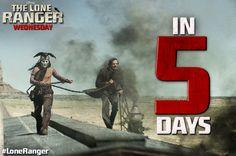 The Lone Ranger rides into theaters in 5 days. http://di.sn/s8V #LoneRanger #movie #movies #johnnydepp #armiehammer #hbc #helenabonhamcarter