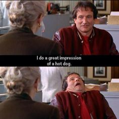 Can't help but think about this scene from Mrs. Doubtfire every time I see a hot dog.