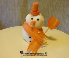 Il pupazzo di neve con scamorza e carote!