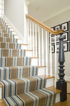 striped stair runner   Judy Cook Interiors, LLC