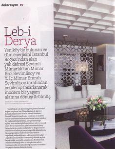 #SevimliMimarlik in Better Homes and Gardens Turkish edition October 2013 #flat in #Bosphorus
