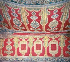 Inside Of Ottoman Tent, Belonging to Mahmud II  this looks embroidered rather than appliquéd - appliqué looks easier.