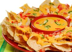 Photographic Print: Plate of Fresh Nachos with a Spicy Jalapeno Cheese Sauce by : Authentic Mexican Recipes, Mexican Food Recipes, Ethnic Recipes, I Love Food, Good Food, Yummy Food, Cheese Stuffed Peppers, Quick And Easy Appetizers, Comida Latina