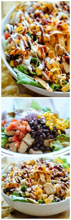 Get the recipe ♥ BBQ Chicken Salad #besttoeat @recipes_to_go
