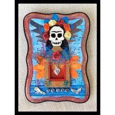 """""""Frida"""" - Mixed Media Plaque by Susie Carranza"""