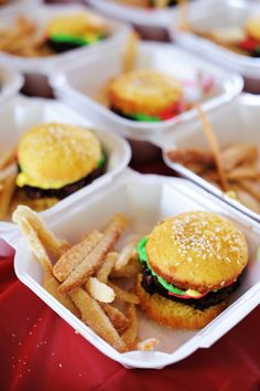 Cupcake Burgers & Sugar Cookie Fries. Made these a few years ago & they are so fun & yummo!