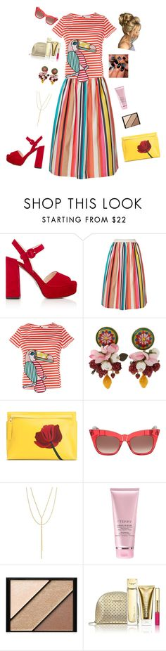 """""""spring"""" by candynena228 ❤ liked on Polyvore featuring Prada, Alice + Olivia, Mira Mikati, Dolce&Gabbana, Loewe, Pared, Lana Jewelry, By Terry, Elizabeth Arden and Michael Kors"""