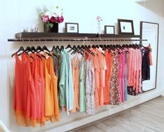 Love this open closet concept