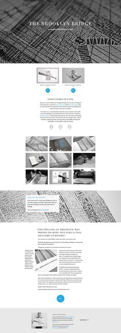 The Brooklyn Bridge #website #web #webdesign