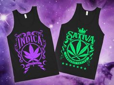 Indica and Sativa - Best Buds Tanks from HUMAN. Saved to Things I want as gifts…