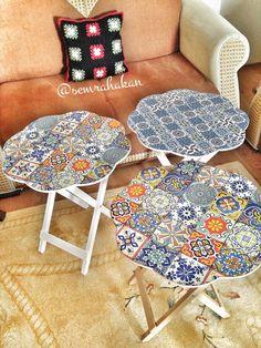 Mesas con decoupage