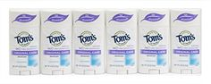 Toms of Maine Natural Original Care Deodorant Stick Unscented 225 Ounce Pack of 6 -- See this great product.