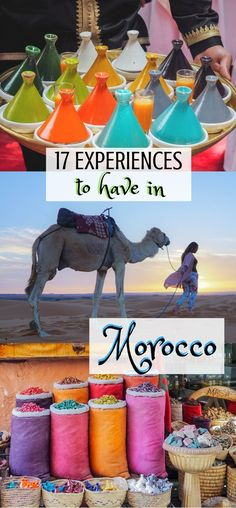17 Experiences to have in #Morocco | Things to do in Morocco | Morocco Bucket List | What to do in Morocco | Moroccan Experiences | The intoxicating aromas of cumin and mint lingering in the air, the echo of the call to prayer cascading over the cities.