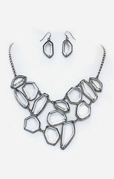 Josephine Necklace in Black Diamond