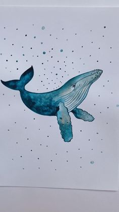 Ocean Drawing, Whale Drawing, Whale Painting, Watercolor Whale, Watercolor Animals, Watercolor Paintings, Sea Life Art, Sea Art, Whale Sketch