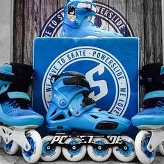This season blue is the hottest color. Powerslide blue Imperials, @usdskates Sway blue and Powerslide Swell blue 100  @taktikalv #powerslide #fresh #blue #triskates #inlineskate #welovetoskate