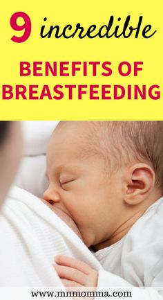 "Best benefits of breastfeeding your baby! Tips for how breastfeeding benefits moms and babies. Find out why breastfeeding is so important and learn the benefits of breastfeeding. Breastfeeding benefits both you and your baby! Learn why ""breast is best"" and can even increase your overall health! Help your baby get sick less and lose weight quickly after baby! #breastfeeding #breastisbest #nursing #baby #pregnancy #newmom #breastfeedingbenefits #tips #parenting #pregnantlife"