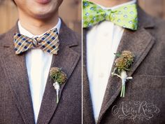Cute Bouts!! Franciscan Gardens Wedding//Floral Design By The Vine's Leaf