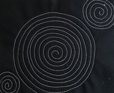 Free motion quilting in circles