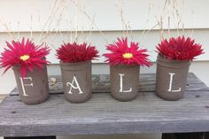 Fall Mason jar beauty!  Shabby chic perfection, ready for you to decorate for your home! by ToastyBarkerBoutique on Etsy