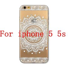 Phone Cases for Apple iPhone 4 4S 5 5S SE 5C 6 6S 6Plus 6s Plus HENNA DREAM CATCHER Ethnic Tribal TPU Silicon Covers Capa Back