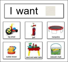 Simple Sentence speech therapy I want, I like | ... the Picture Exchange Communication System (PECS) - Speech Buddies Blog