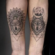 Tatuaje Lobos Tatuajes Pinterest Tattoos Couple Tattoos Y