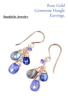 Tanzanite Jewelry, Labradorite Jewelry, Gemstone Jewelry, Rose Gold Jewelry, Wedding Jewelry, Custom Jewelry, Earrings Handmade, Dangle Earrings, Special Occasion
