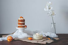 Mini Carrot Cake with Citrus Goat Cheese Frosting Recipe
