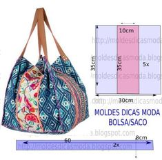 Discover thousands of images about Risultati immagini per tutorial cabas reversibles Bag- Diy idea how to make tutorial sew pattern Could use those Japanese kimono scraps 3 pieces sewn together to make one of 4 sides More than 50 Fun Beginner Sewing Proje Diy Sac, Diy Handbag, Patchwork Bags, Denim Bag, Purse Patterns, Fabric Bags, Printed Bags, Handmade Bags, Bag Making