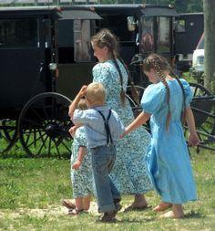 Amish children in Pennsylvania