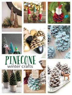 Pretty winter crafts using pinecones pine cones рождество, н Christmas Projects, Holiday Crafts, Christmas Crafts, Christmas Decorations, Holiday Decor, Christmas Ideas, Christmas Inspiration, Family Christmas, Christmas Holiday